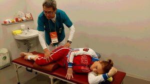 ロシア選手の治療