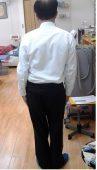 治療前の腰痛姿勢