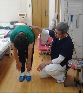 腰痛の姿勢検査