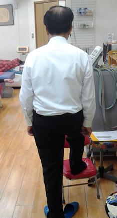 左足支持の患者